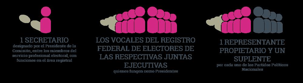 Integrantes de las Comisiones Locales Distritales