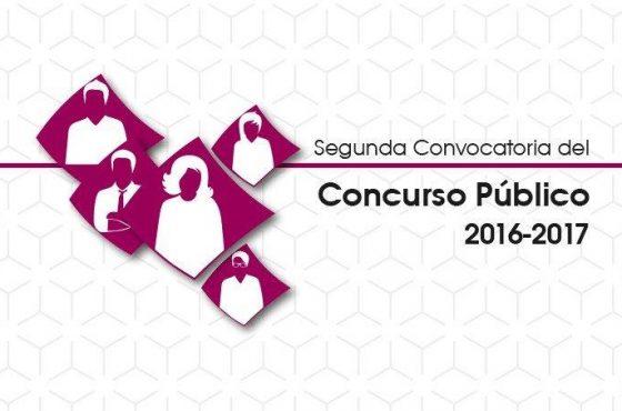 Segunda Convocatoria del Concurso Público 2016 -2017