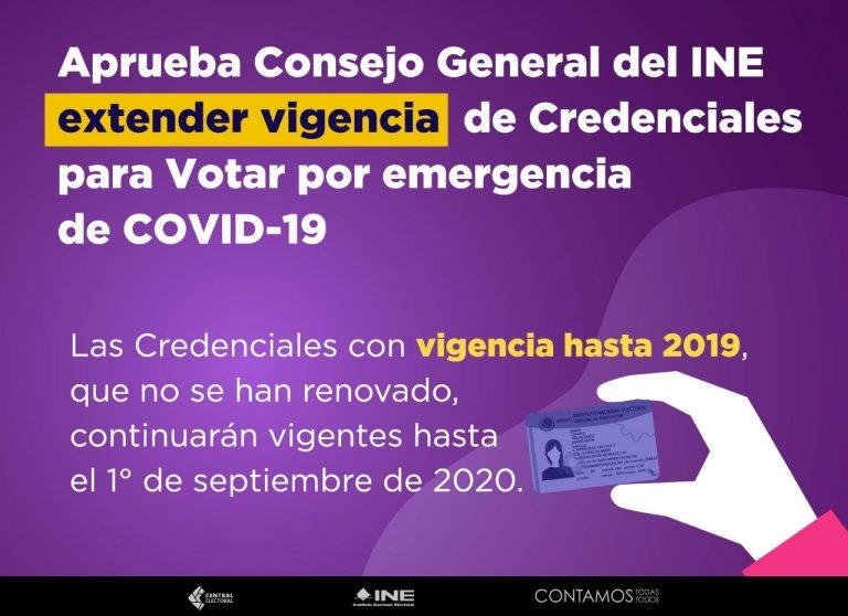 Se extiende vigencia de Credenciales 2019
