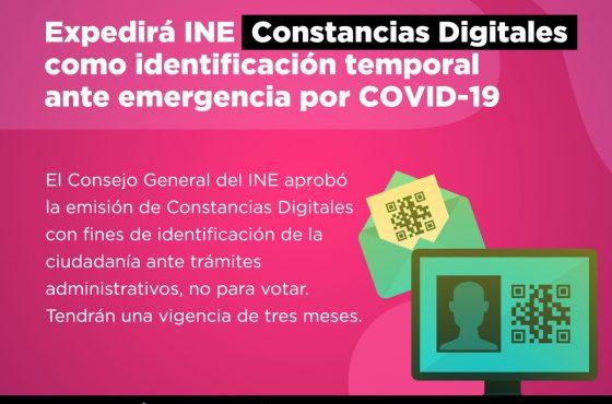 Constancias Digitales de Identificación ante emergencia por COVID-19