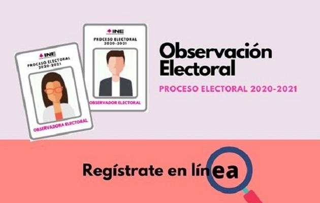 Registro en línea para Observación electoral del proceso electoral 2020-2021