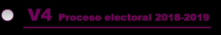 V4 proceso electoral 2018-2019