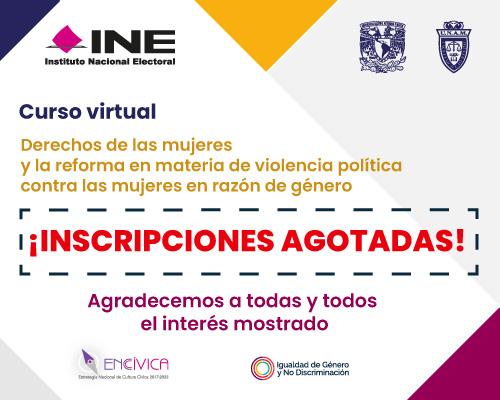 Curso virtual Derechos de las mujeres y la reforma en materia de violencia política contra las mujeres en razón de género